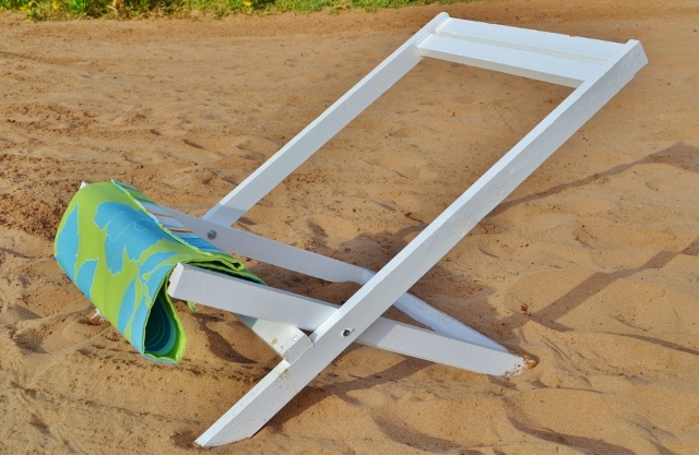 Folding Deck Beach Or Sling Chairs Child Size