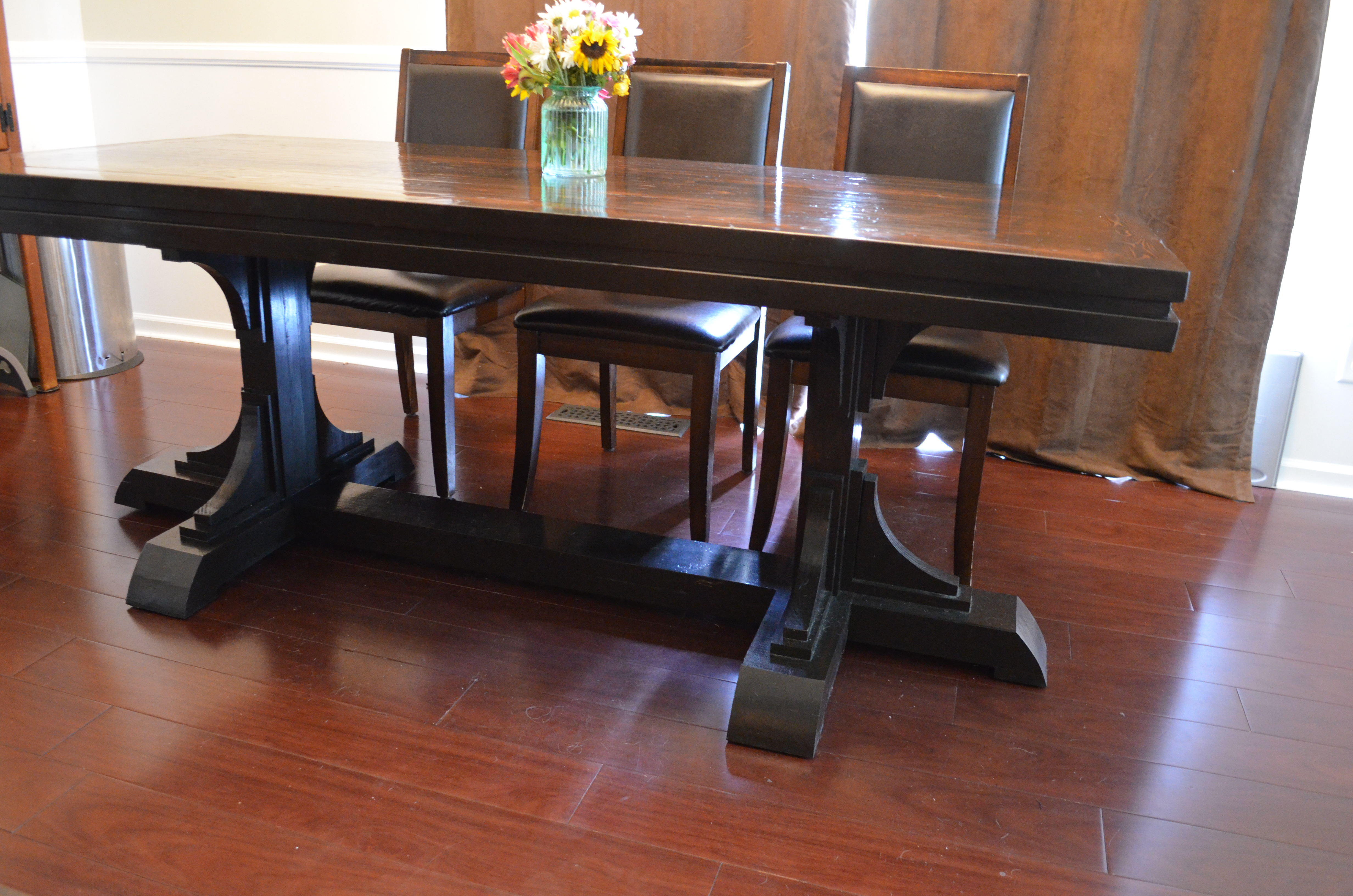 Ana White Triple Foot Farmhouse Table With Runner
