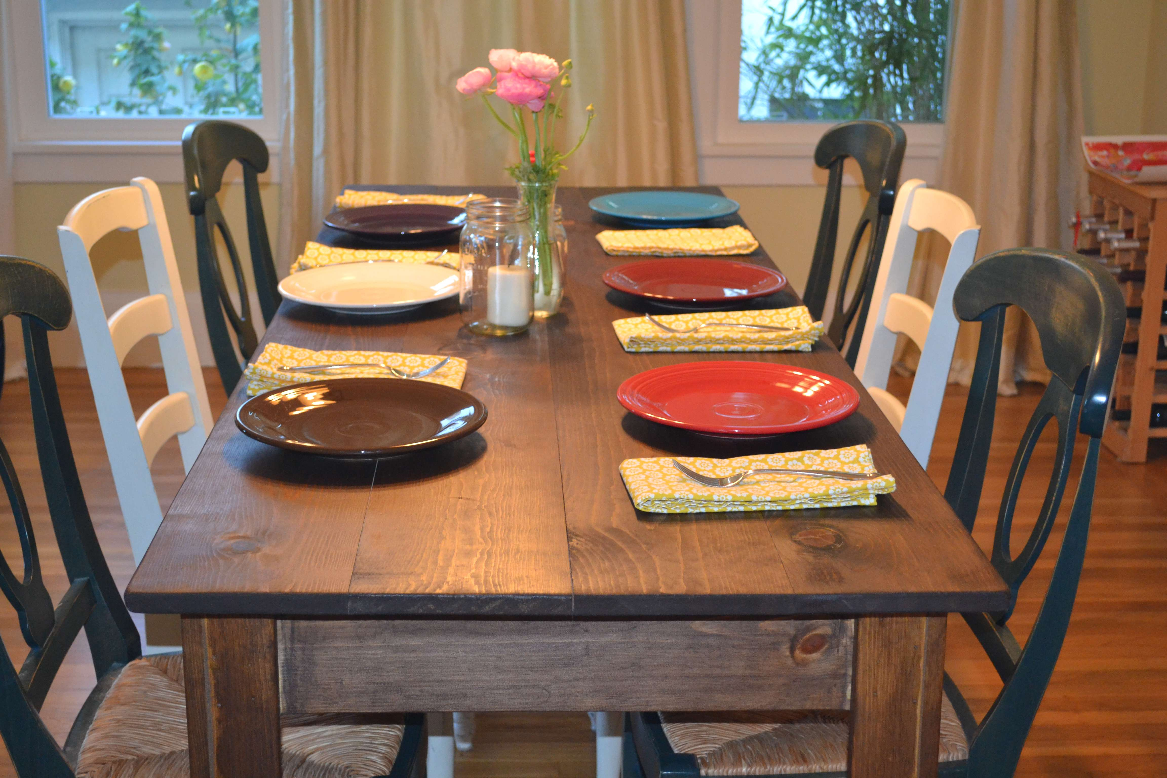 Ordinaire Narrow Farmhouse Table