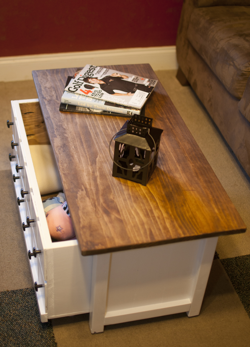 Ana White Apothecary Coffee Table With Toy Trundle Diy