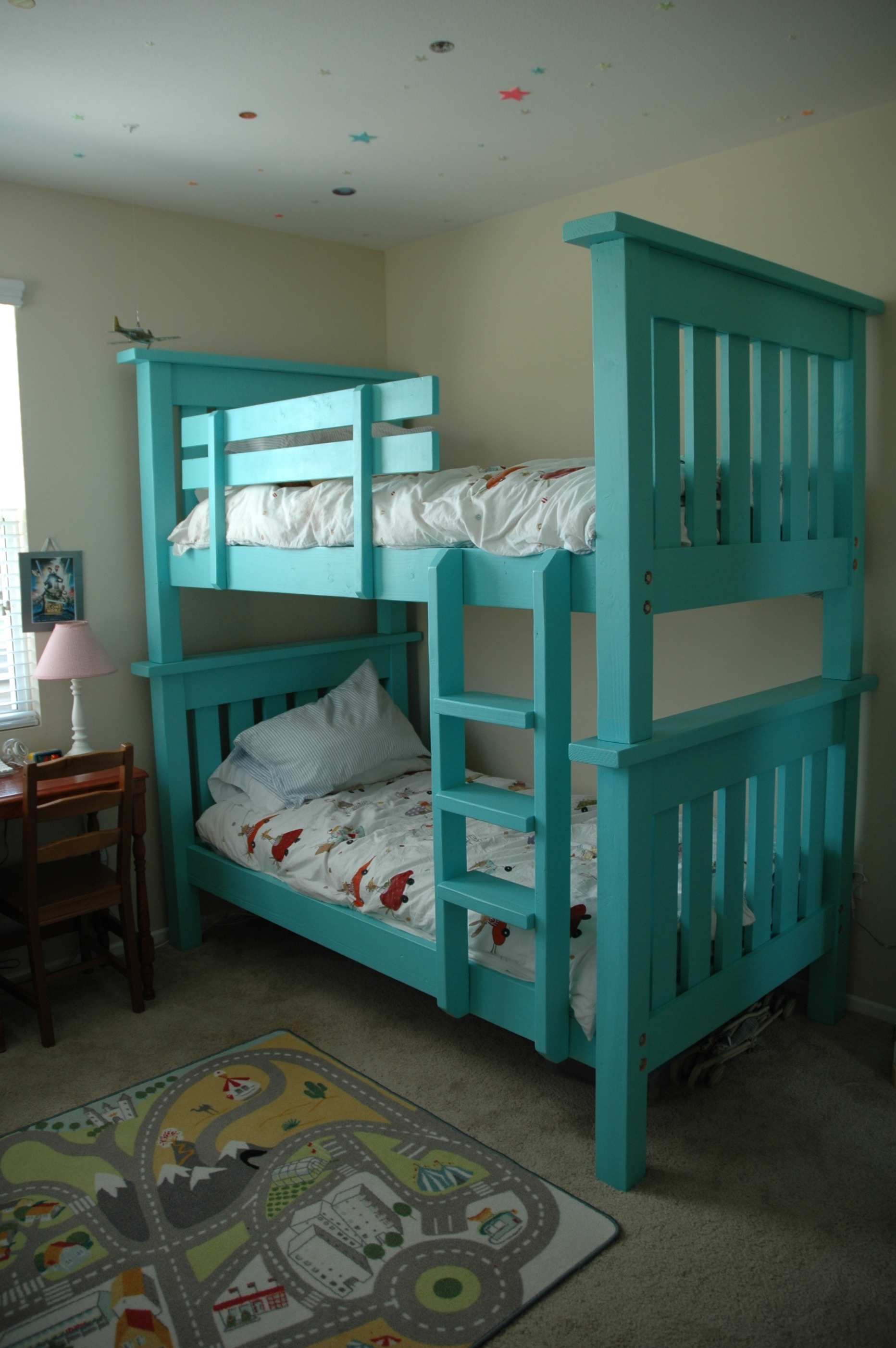 ana white bunk bed from simple bed modified diy projects