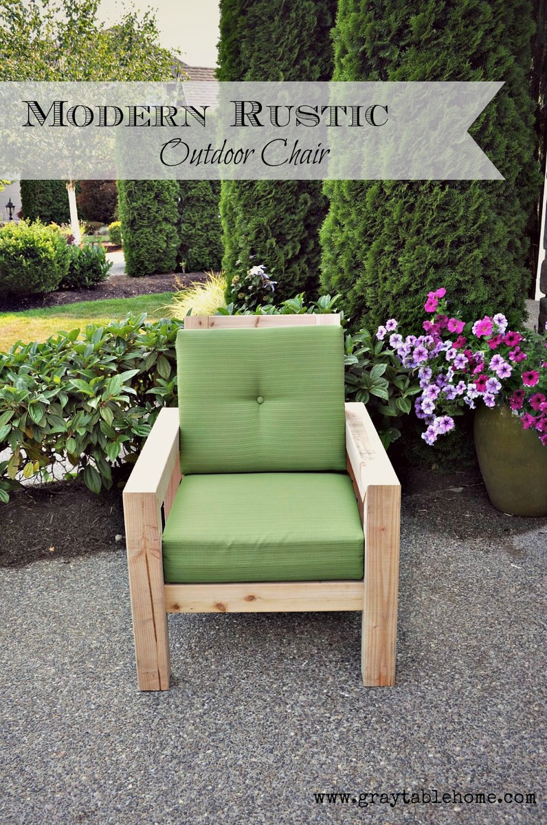 Ana White | DIY Modern Rustic Outdoor Chair - DIY Projects
