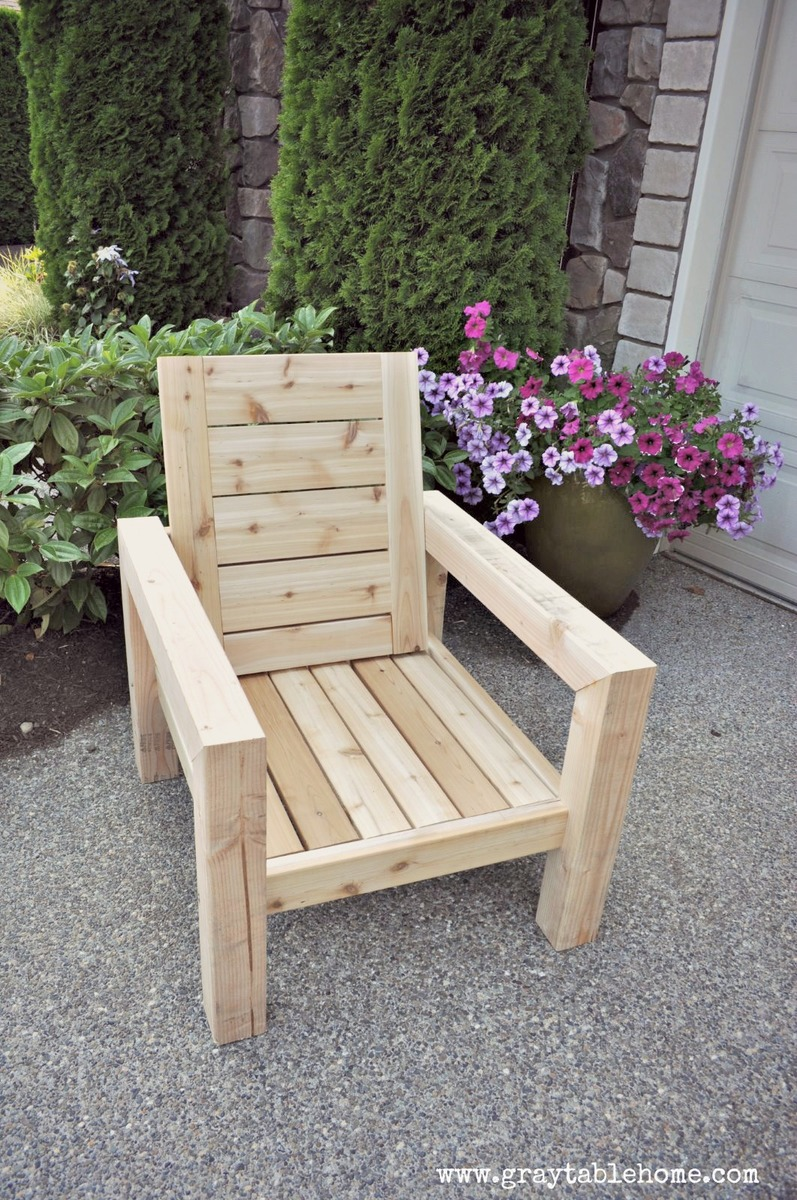 Ana White Diy Modern Rustic Outdoor Chair Diy Projects: diy outdoor furniture