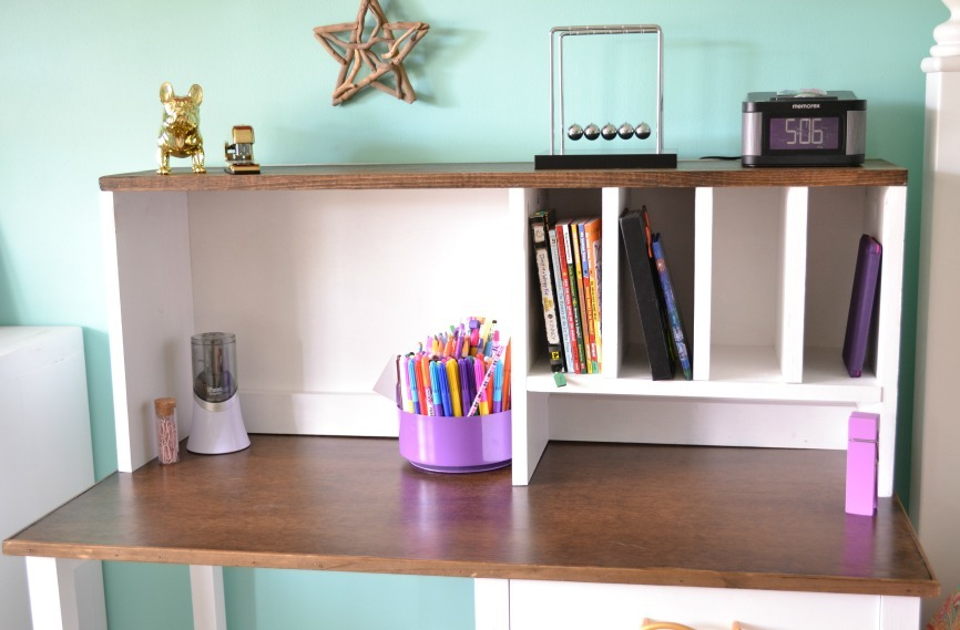 Simple Diy Desk Hutch Plans By Ana White Com Inspired Pottery Barn Teen Ham Pedestal