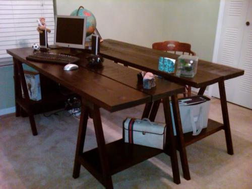 i attached pictures of the ones i made thanks again hubby u0026 i are very excited about our new desks oh btw 2 desks u003d 80