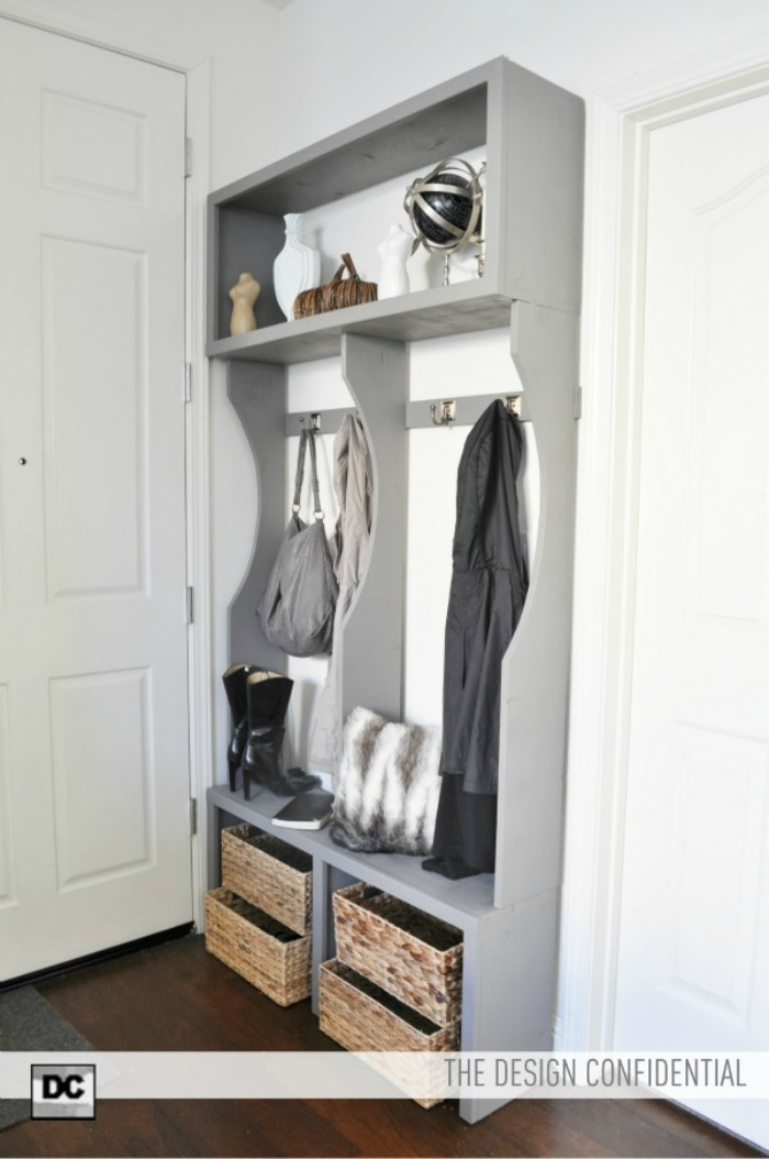 white entryway locker system diy projects