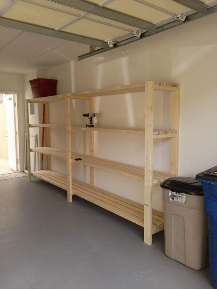 how to build shop shelves white garage shelving unit diy projects 2509