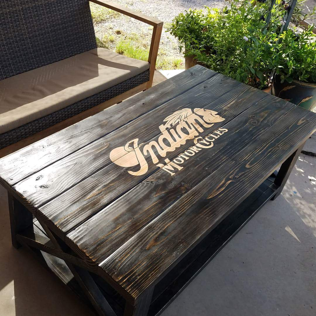 Indian Motorcycles Distressed Coffee Table