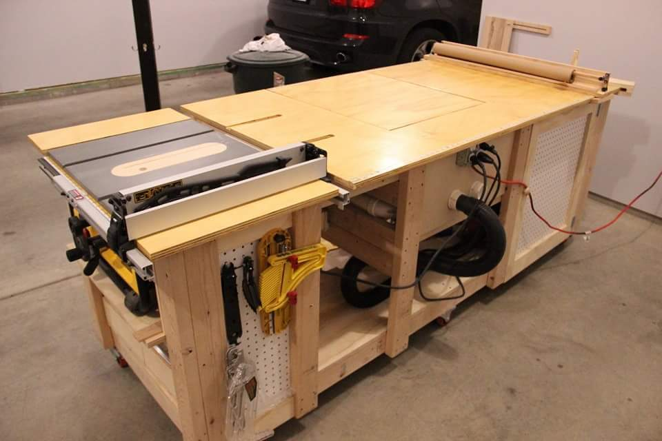 Ana white ultimate work bench diy projects for Router work table