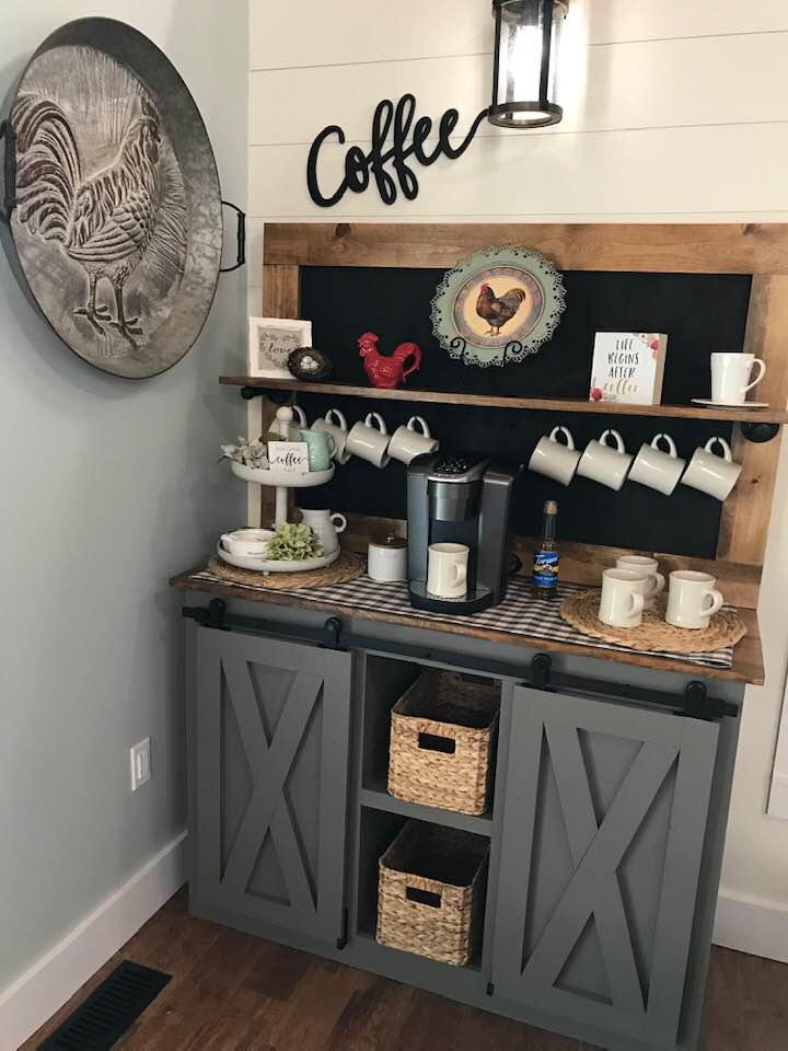 Coffee Bar Barn Door Console Ana White