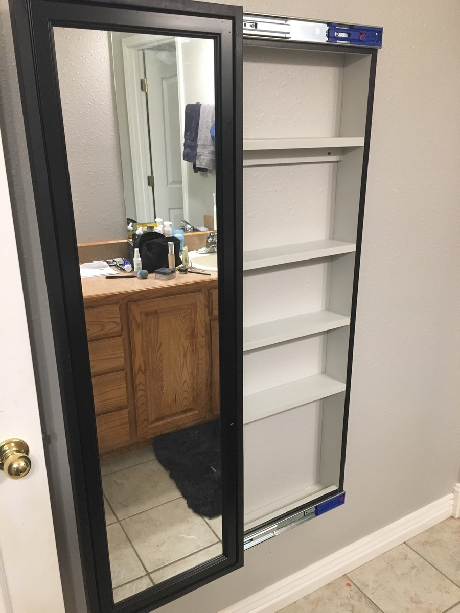 Ana White Full Length Sliding Mirror Cabinet Diy Projects