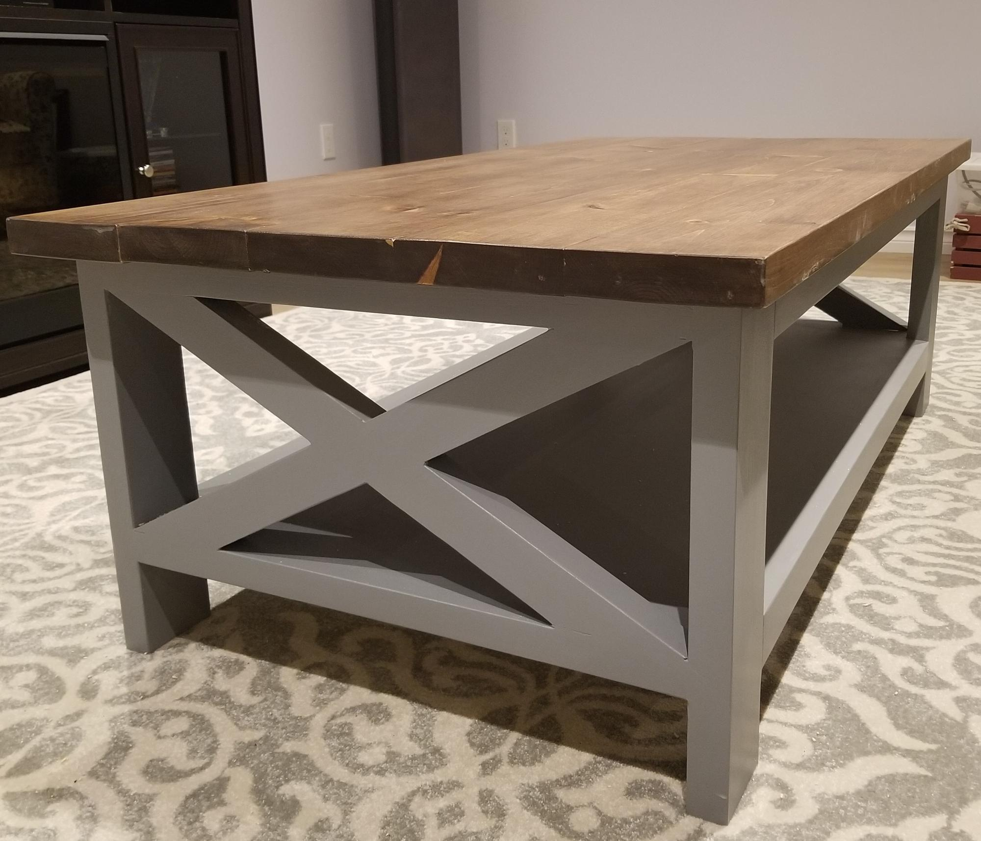 Farmhouse Coffee Table First Project Ever Ana White