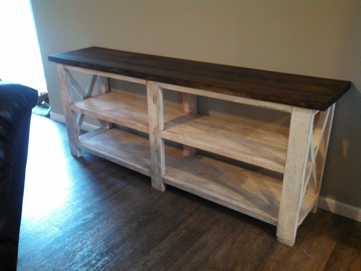 Genial My Rustic X Console! Thanks Ana