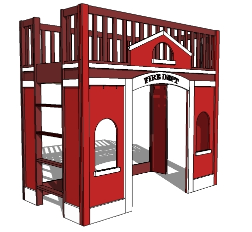firestation playhouse bed plans