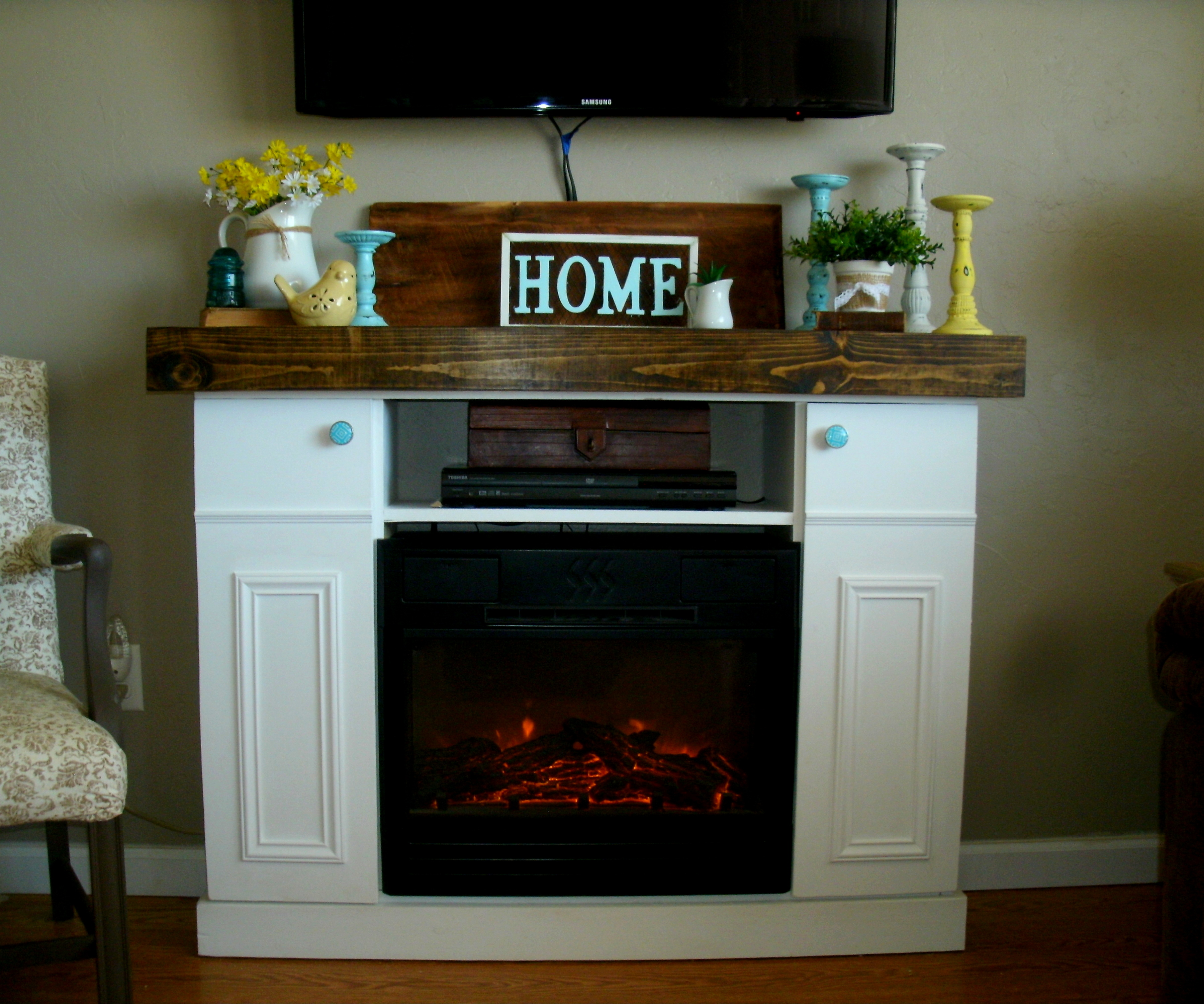 Diy Faux Fireplace Mantle With Hidden Storage Ana White