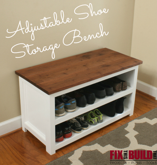 & Ana White | Adjustable Shoe Storage Bench - DIY Projects