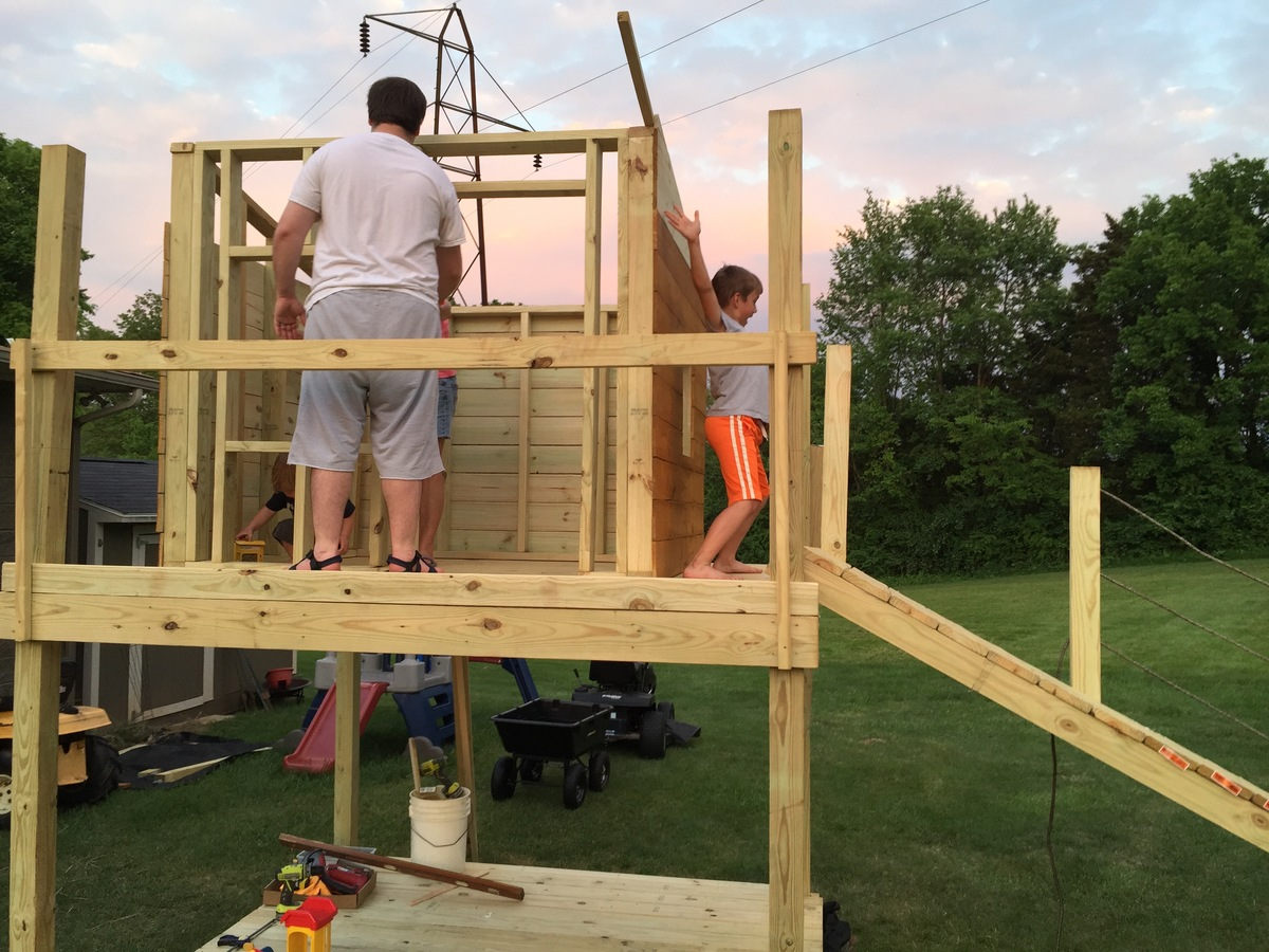 Ana White Play Fort And Swing Set Diy Projects