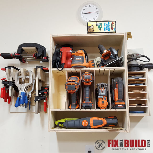 You can see the full build plans on my French Cleat Tool Storage post ...
