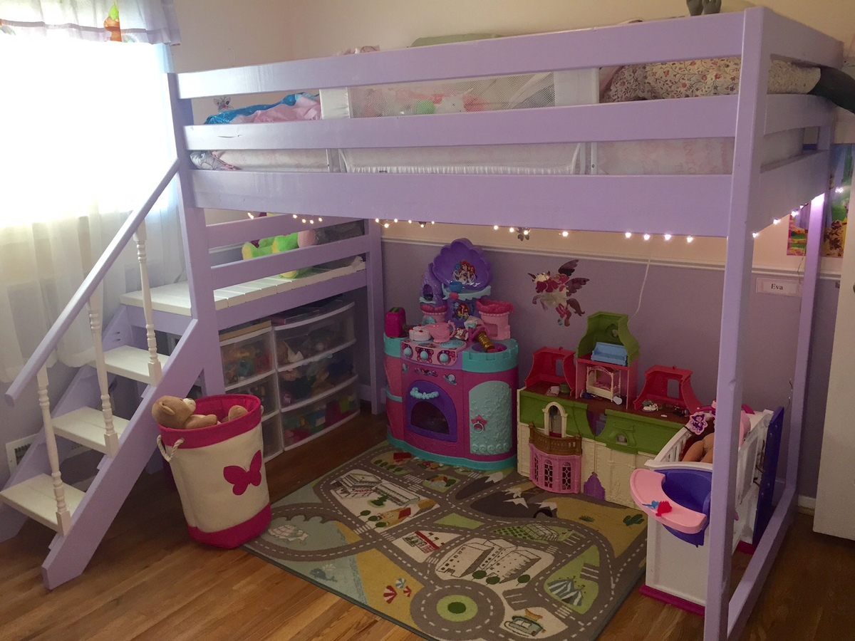 Ana White Camp Loft Bed With Stairs Diy Projects