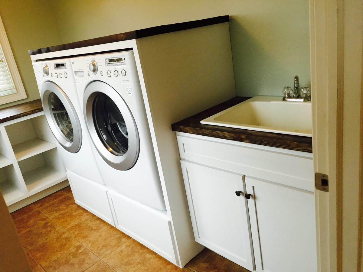 ana white laundry room cabinets diy projects. Black Bedroom Furniture Sets. Home Design Ideas