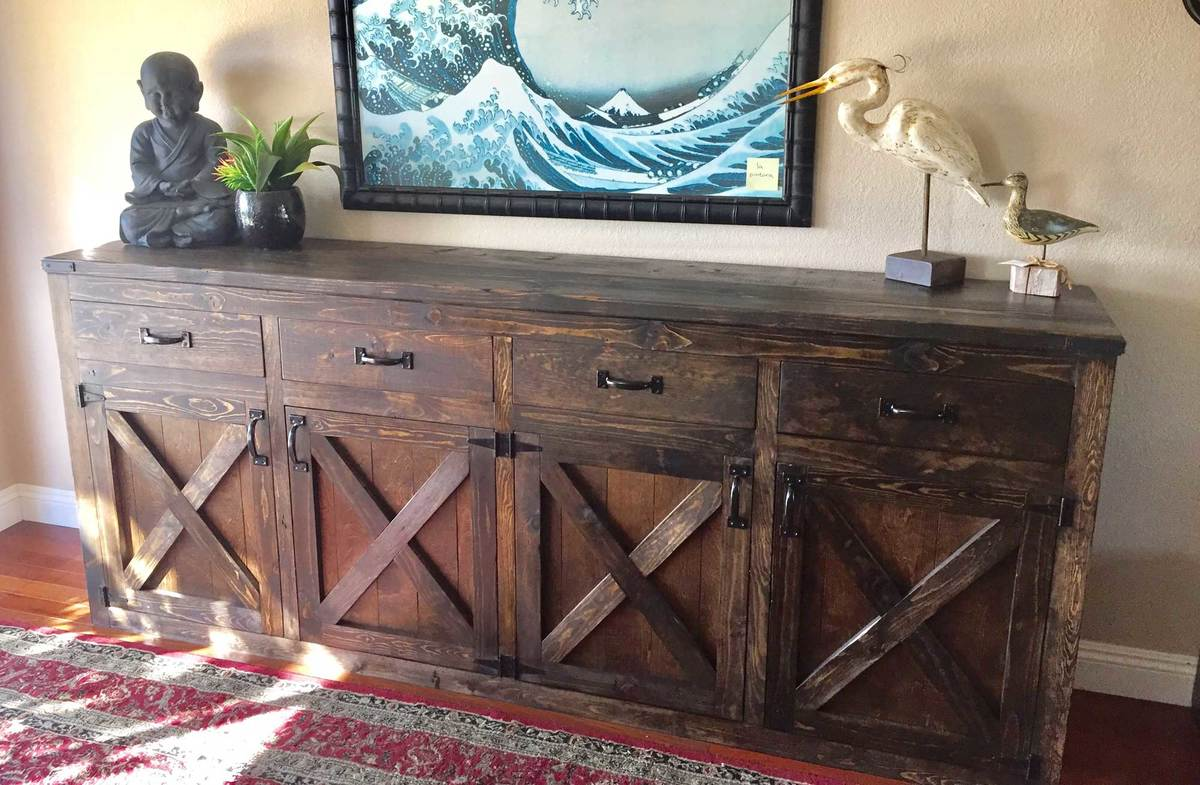 Ana White Custom 9 Foot Rustic Buffet Diy Projects