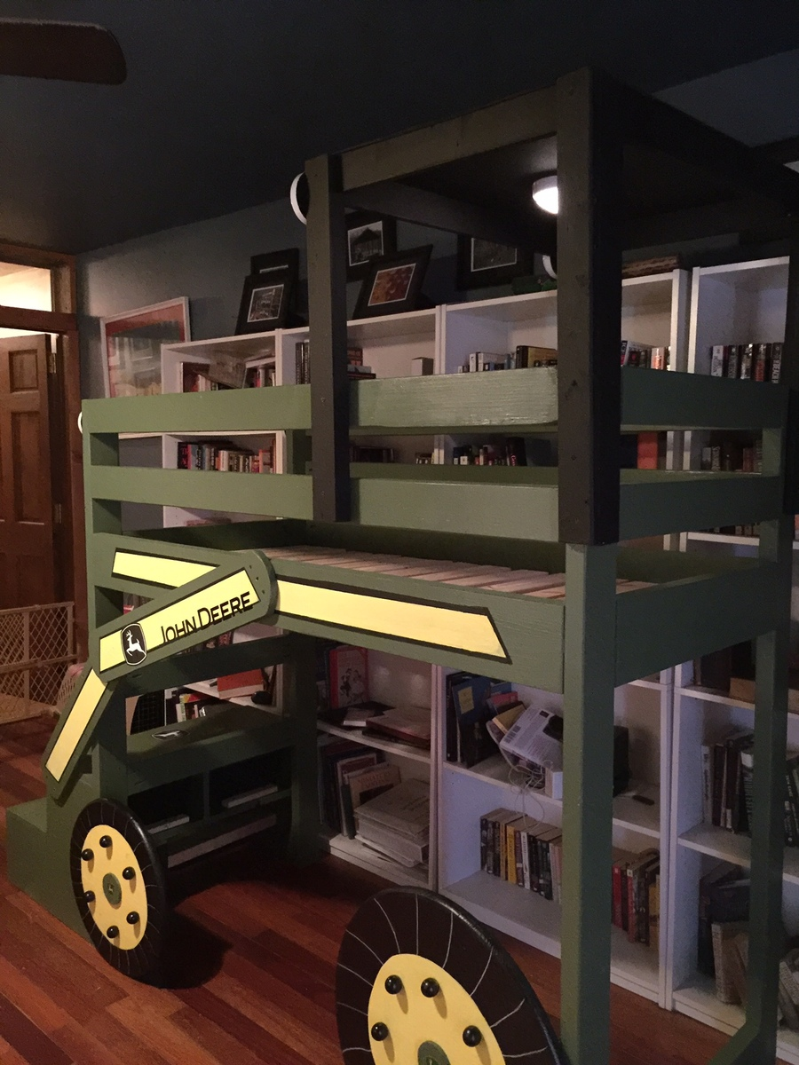 John Deere Bed Plans : Ana white john deere toddler loft bed diy projects