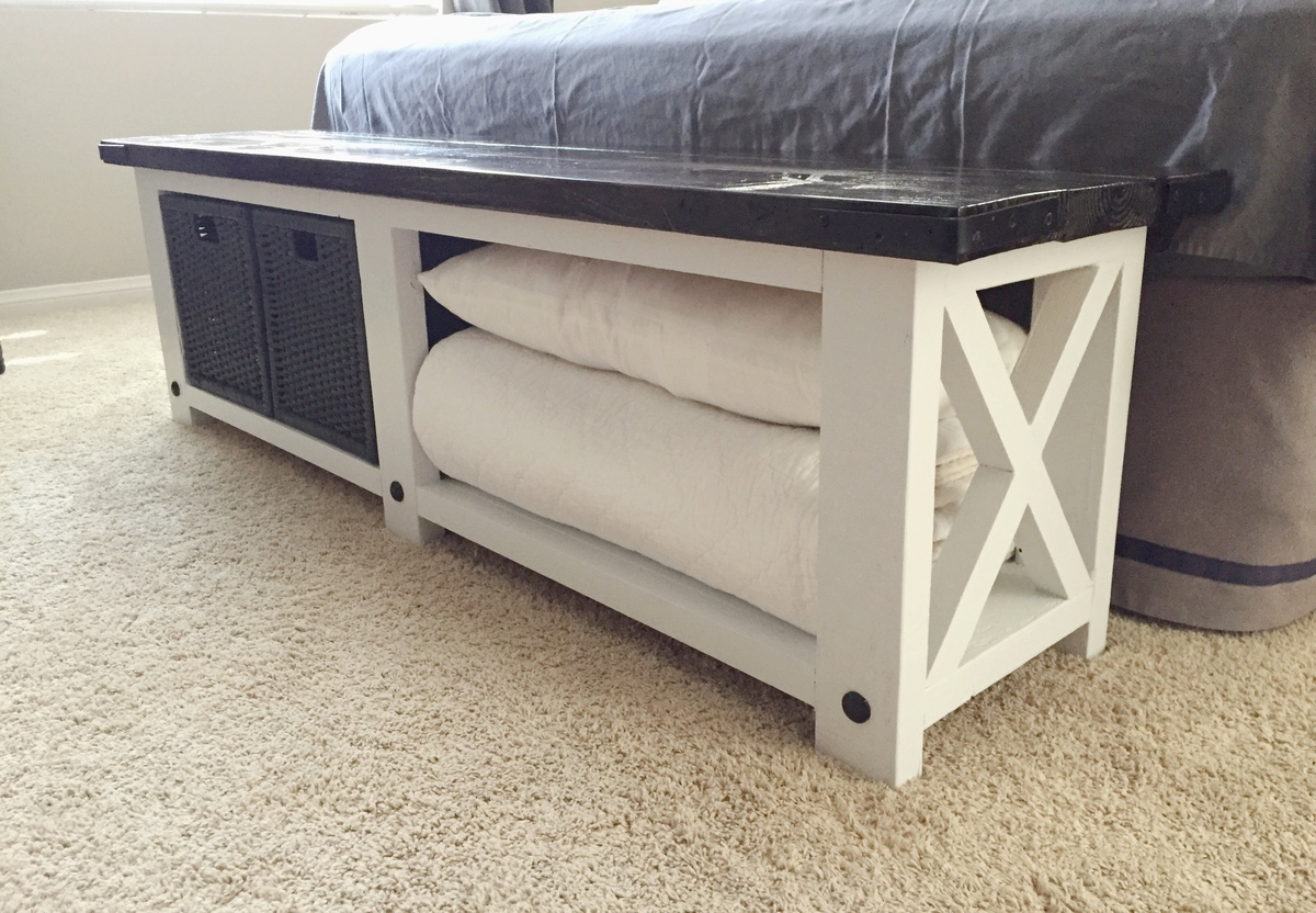 Ana white rustic x bench diy projects for Diy rustic bunk beds