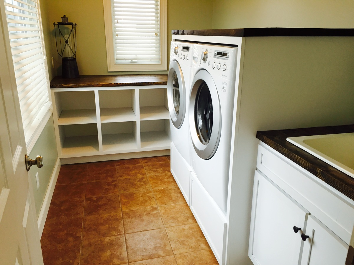 ana white | laundry room cabinets - diy projects Cheap Laundry Room Cabinets