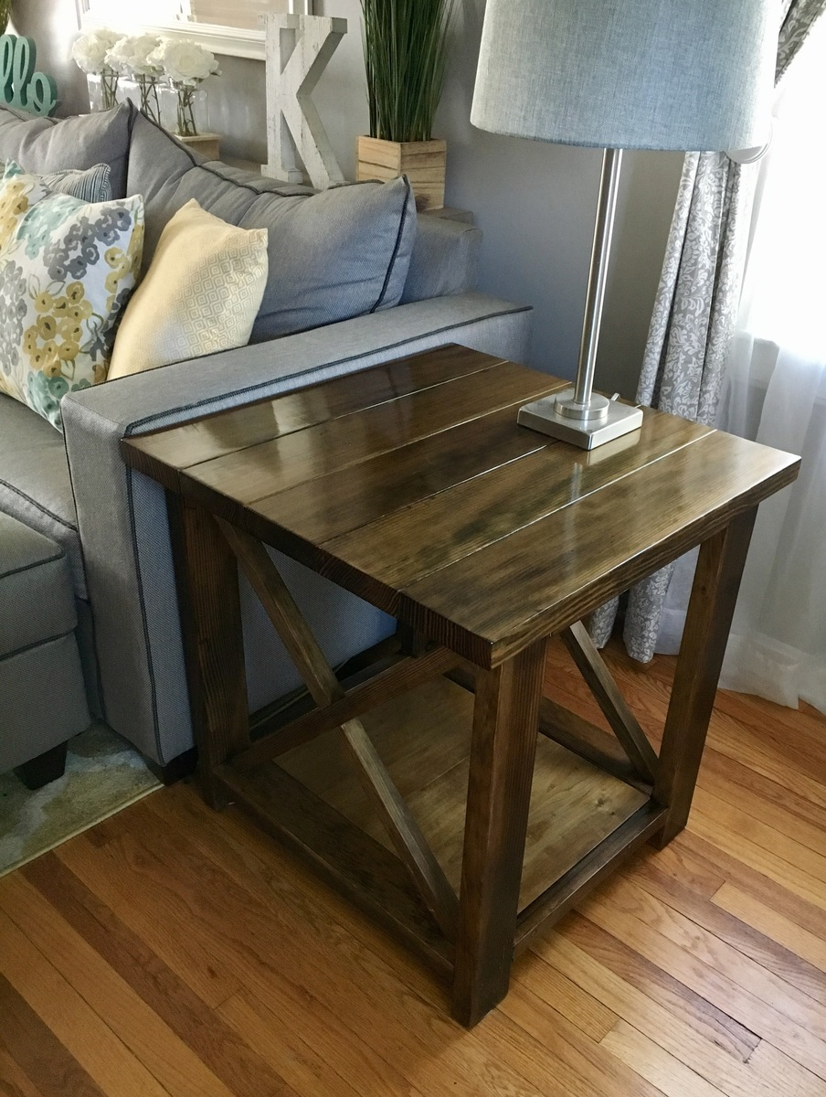 ana white rustic end table diy projects