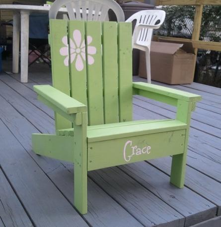 Ana White How To Build A Super Easy Little Adirondack Chair Diy