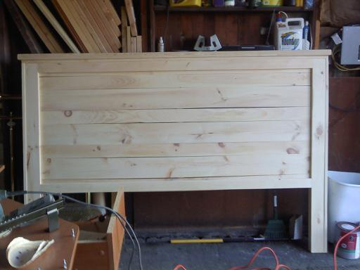 Ana White My First Project Reclaimed Wood Look Headboard King Size Diy Projects