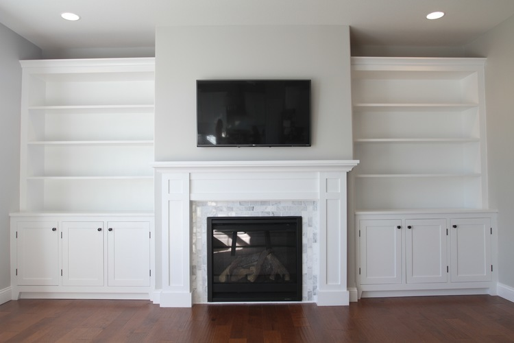 Ana White How To Build A Fireplace Mantel And Surround