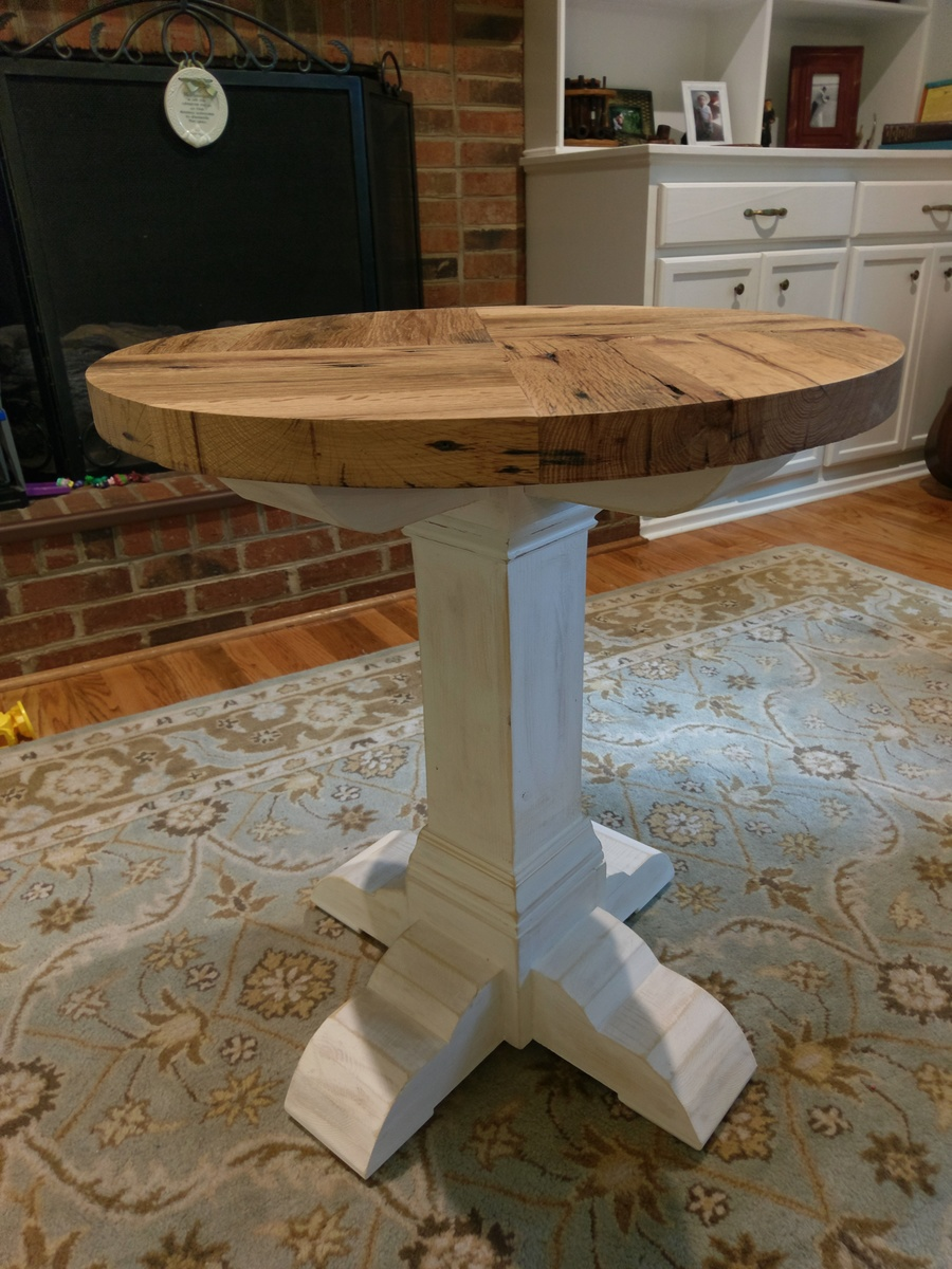 Reclaimed Red Oak Side Table