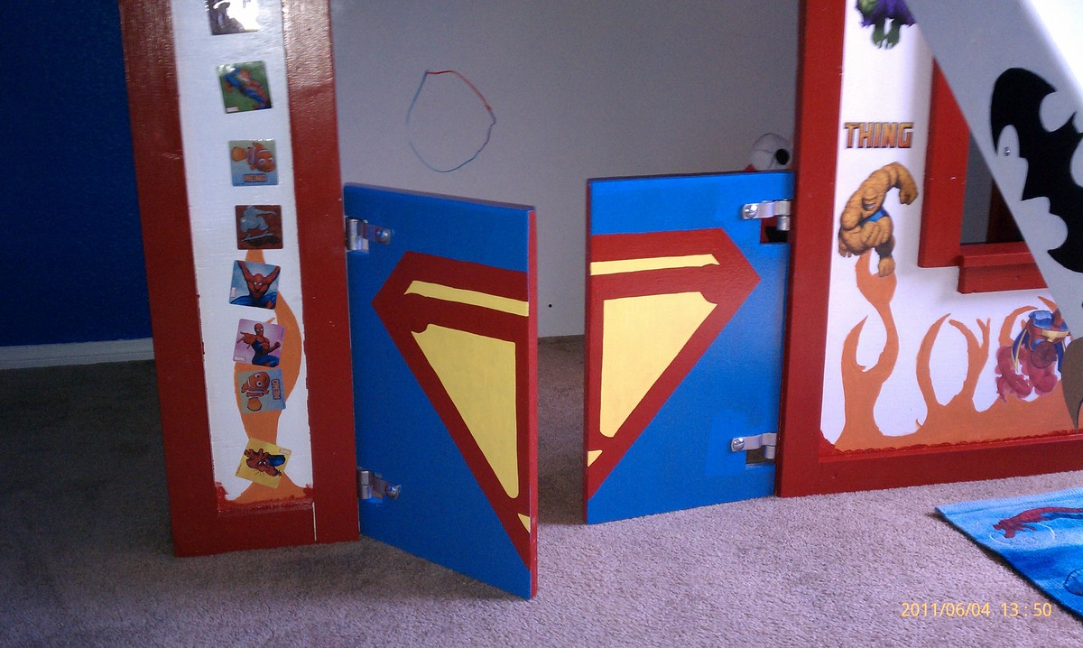 Ana White | Super Hero Clubhouse Bed - DIY Projects