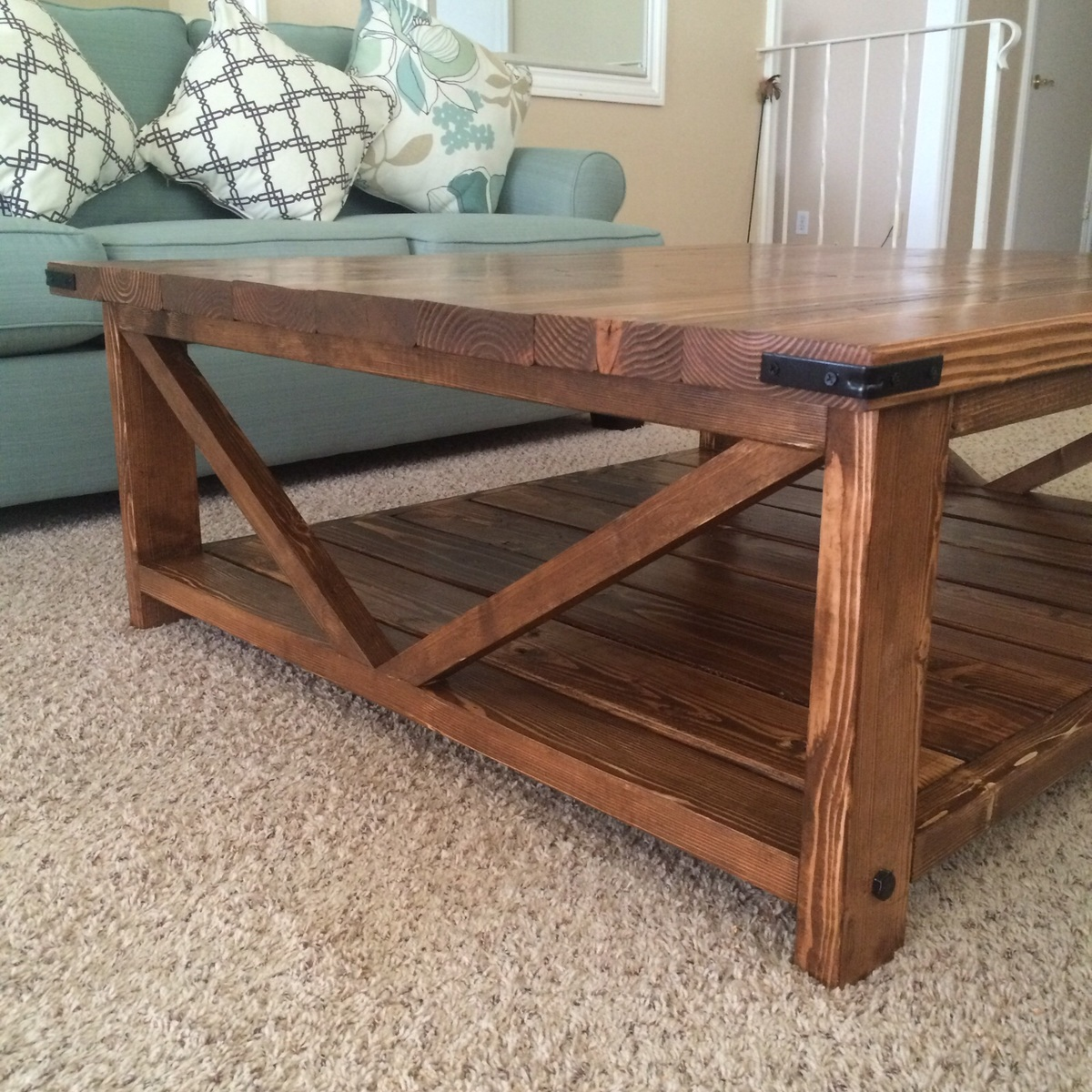 Ana White Modified Rustic X Coffee Table DIY Projects