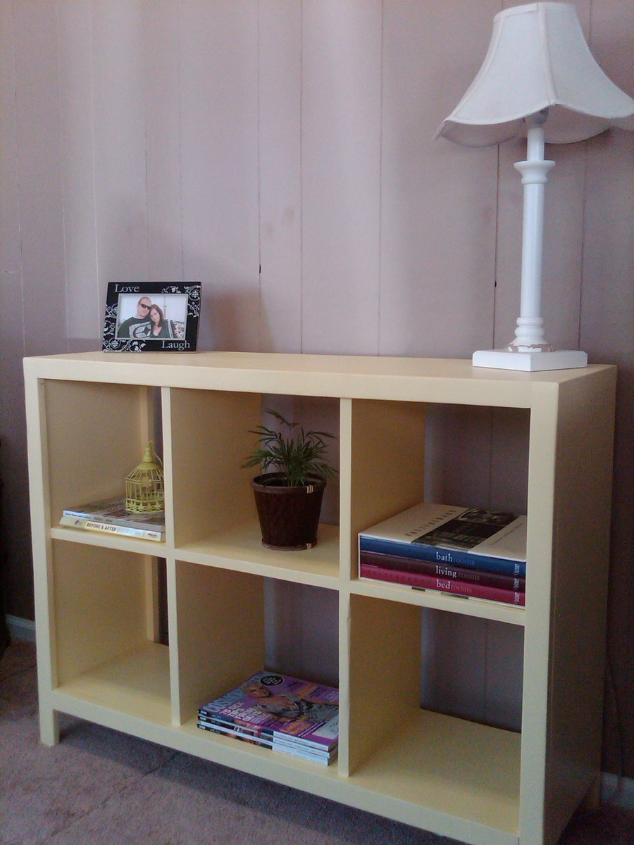Ana White | My new yellow cubby shelf - DIY Projects