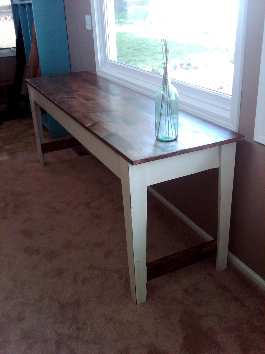 good Diy Narrow Table Part - 12: Narrow Farmhouse Table