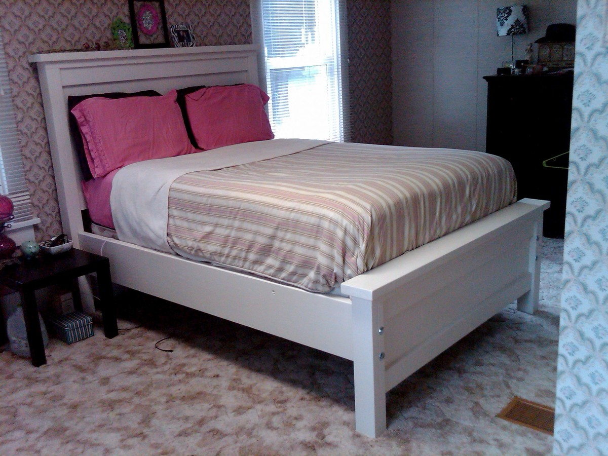 full size farmhouse bed - Wood Full Size Bed Frame