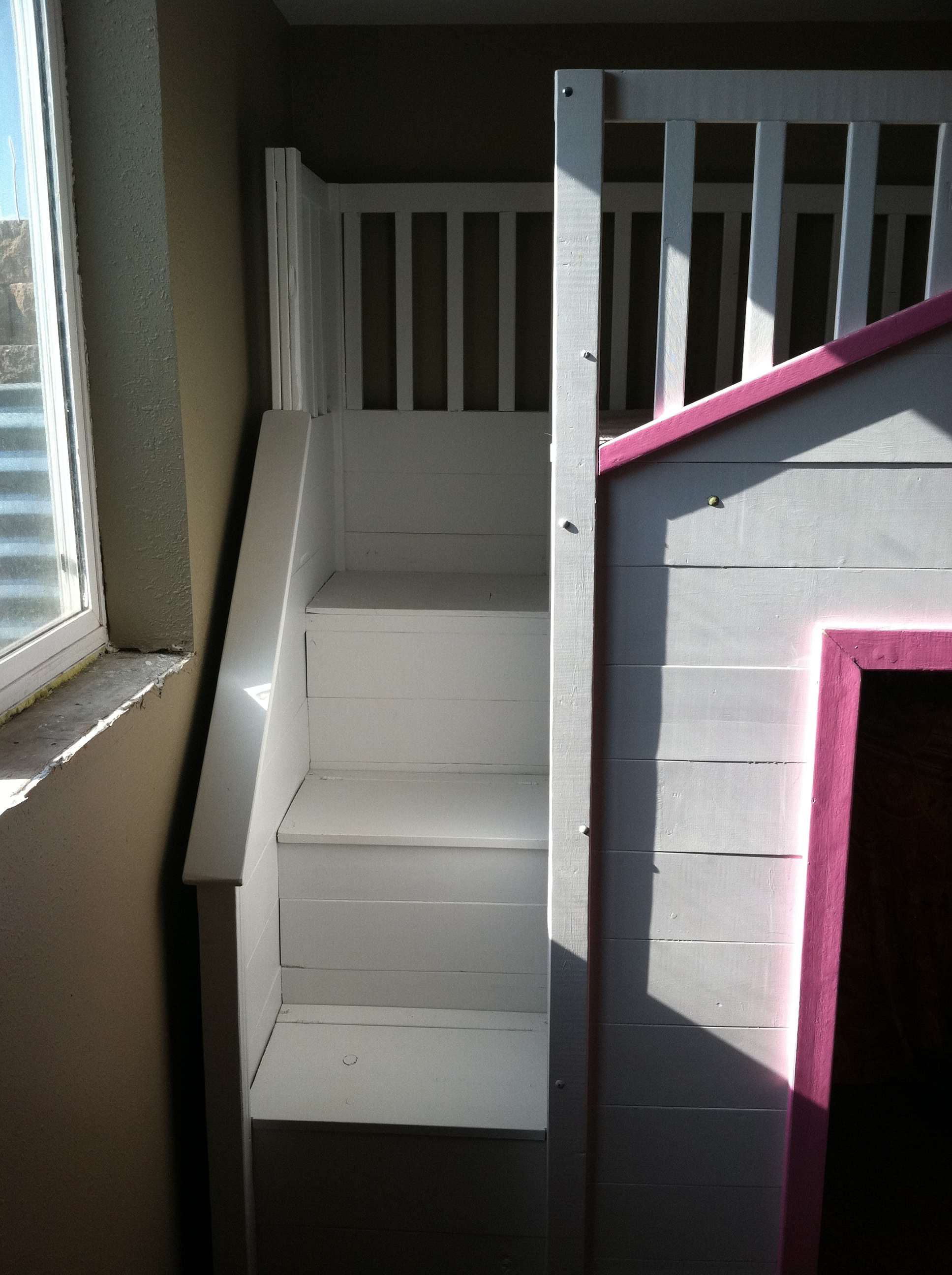 Cottage Loft Bed With Stairs Ana White