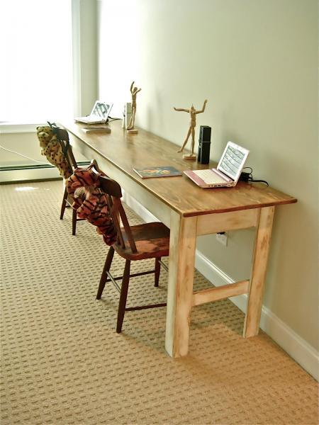 & Ana White | Narrow Farmhouse Table - DIY Projects