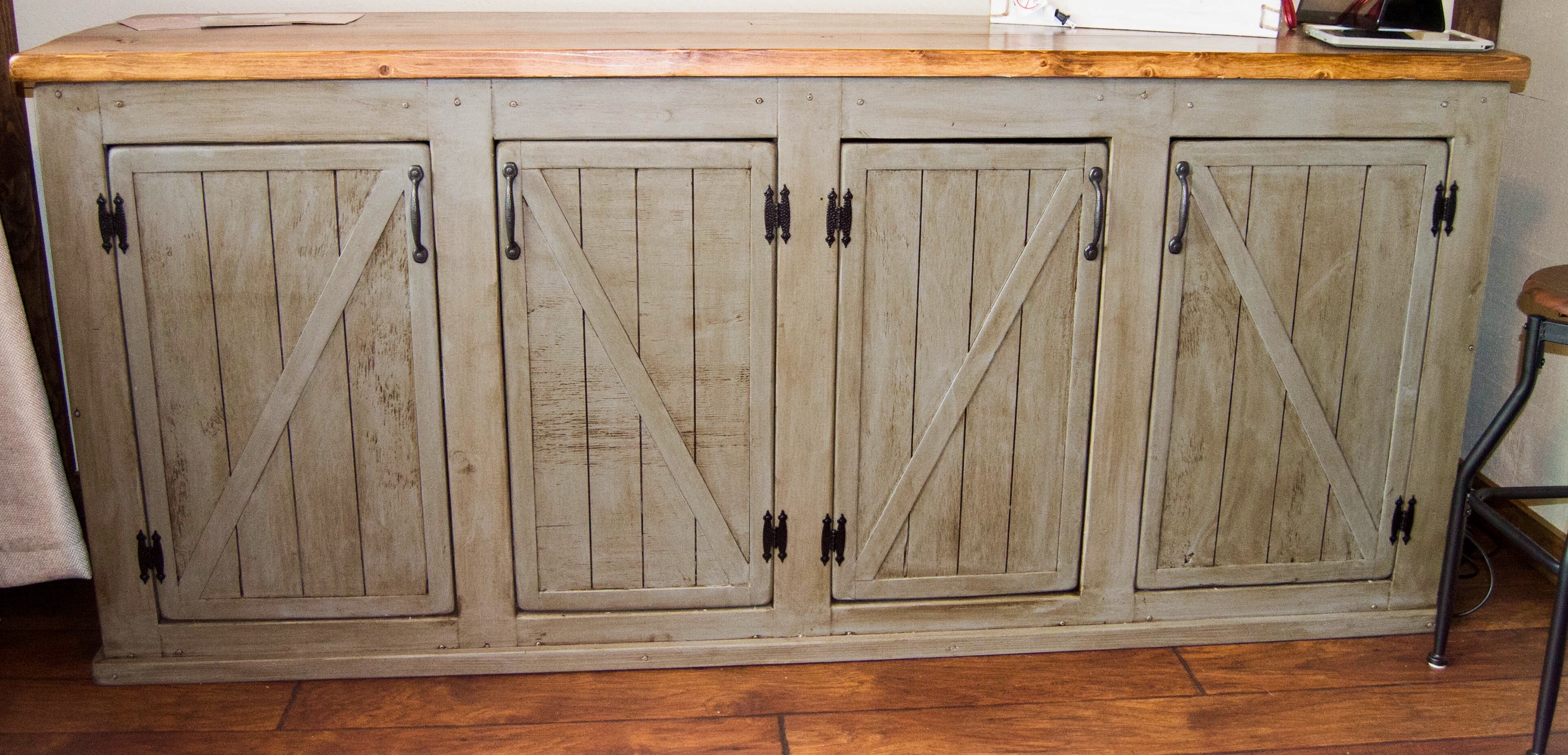 Ana White | Scrapped the Sliding Barn Doors, Rustic Cabinet Doors ...