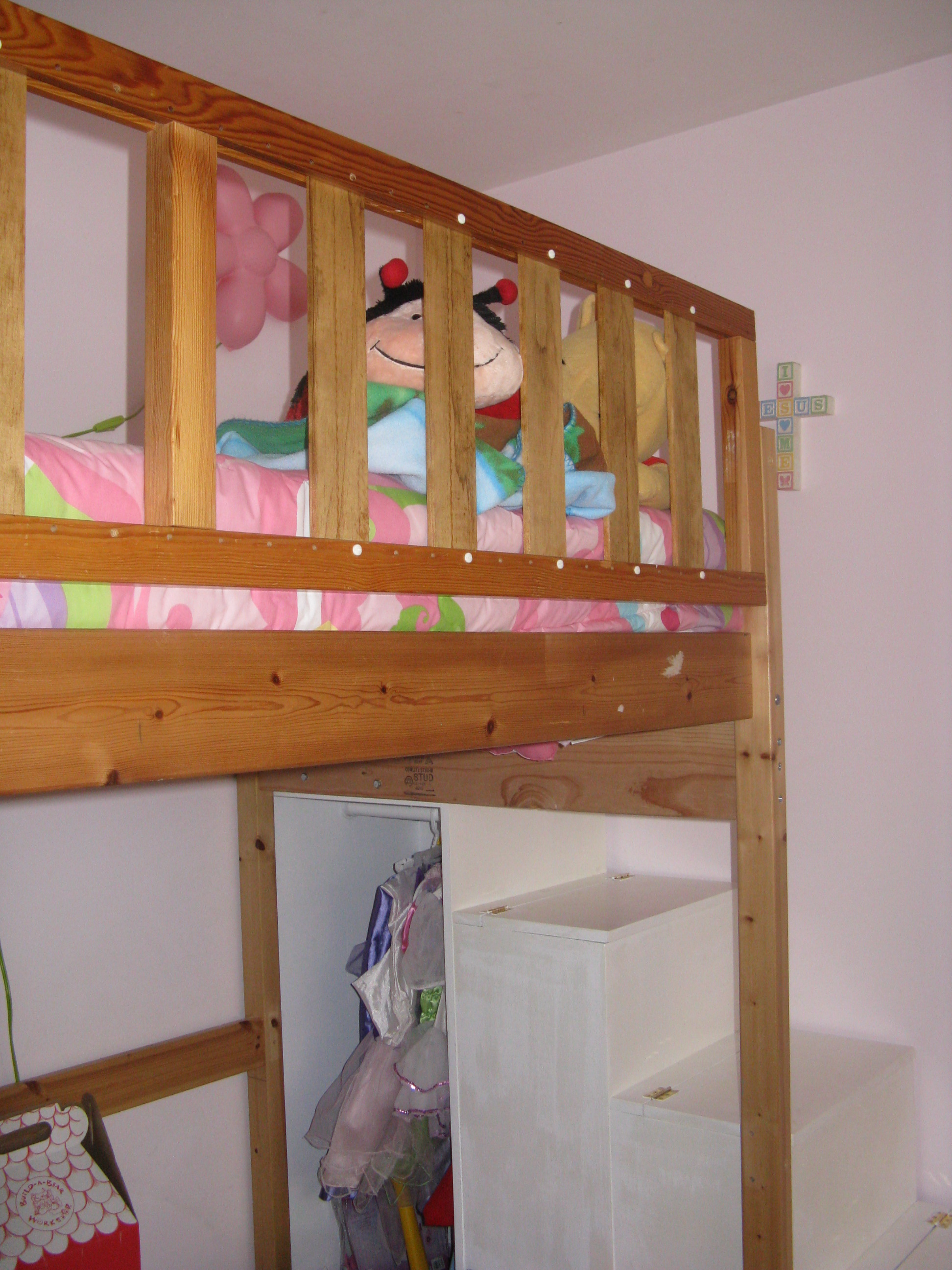 Image Result For Bed Built Over Stair Box: First Project- Loft Bed Stairs/new Rail - DIY