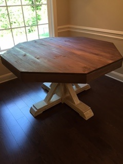 Ana white octagon table diy projects for Octagon coffee table plans