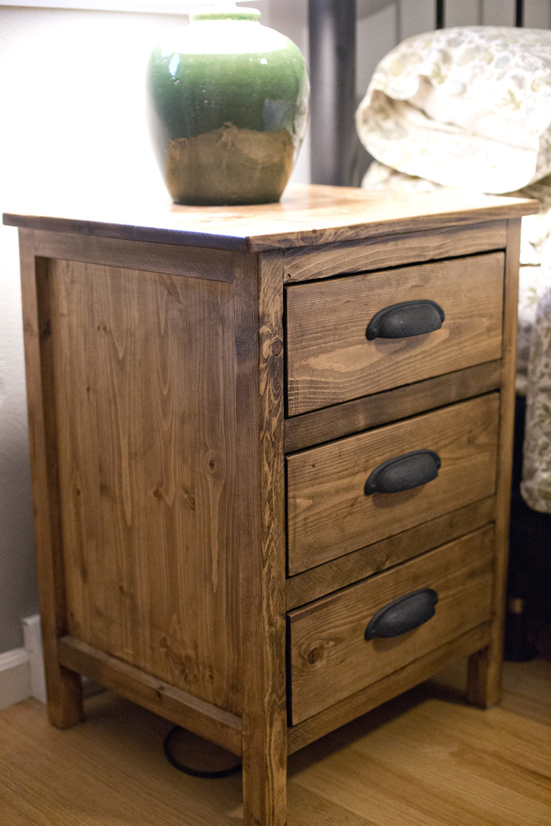 Ana white reclaimed wood night stand diy projects Things to use as nightstands