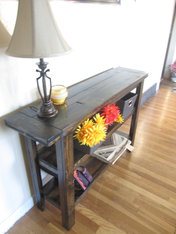 Modified Simple Cheap Console Table