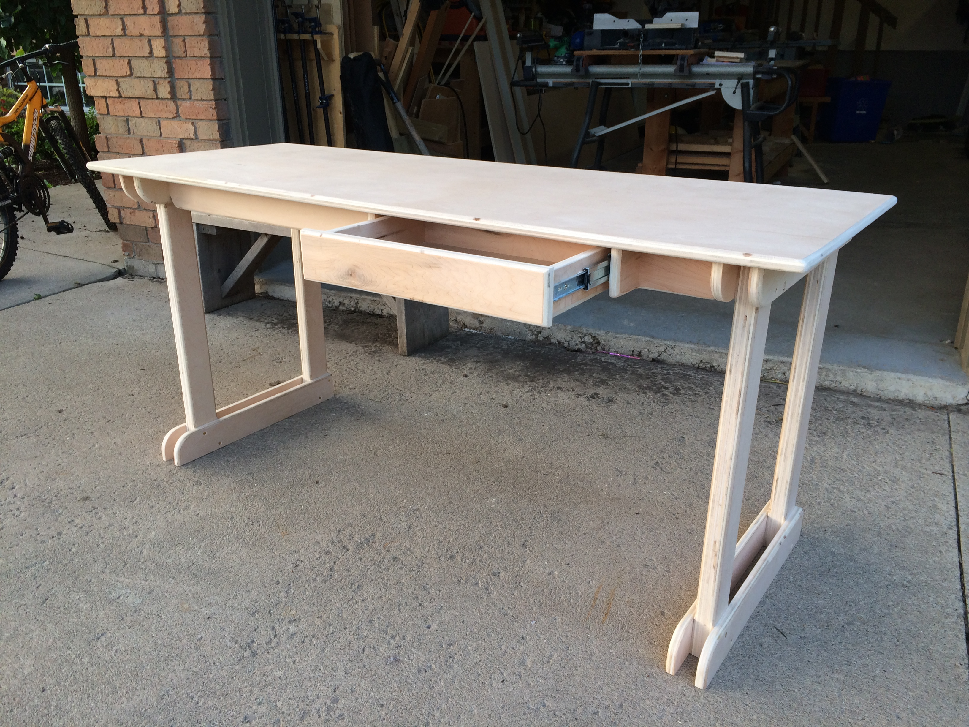 Ana white plywood student desk diy projects for Diy plywood dresser