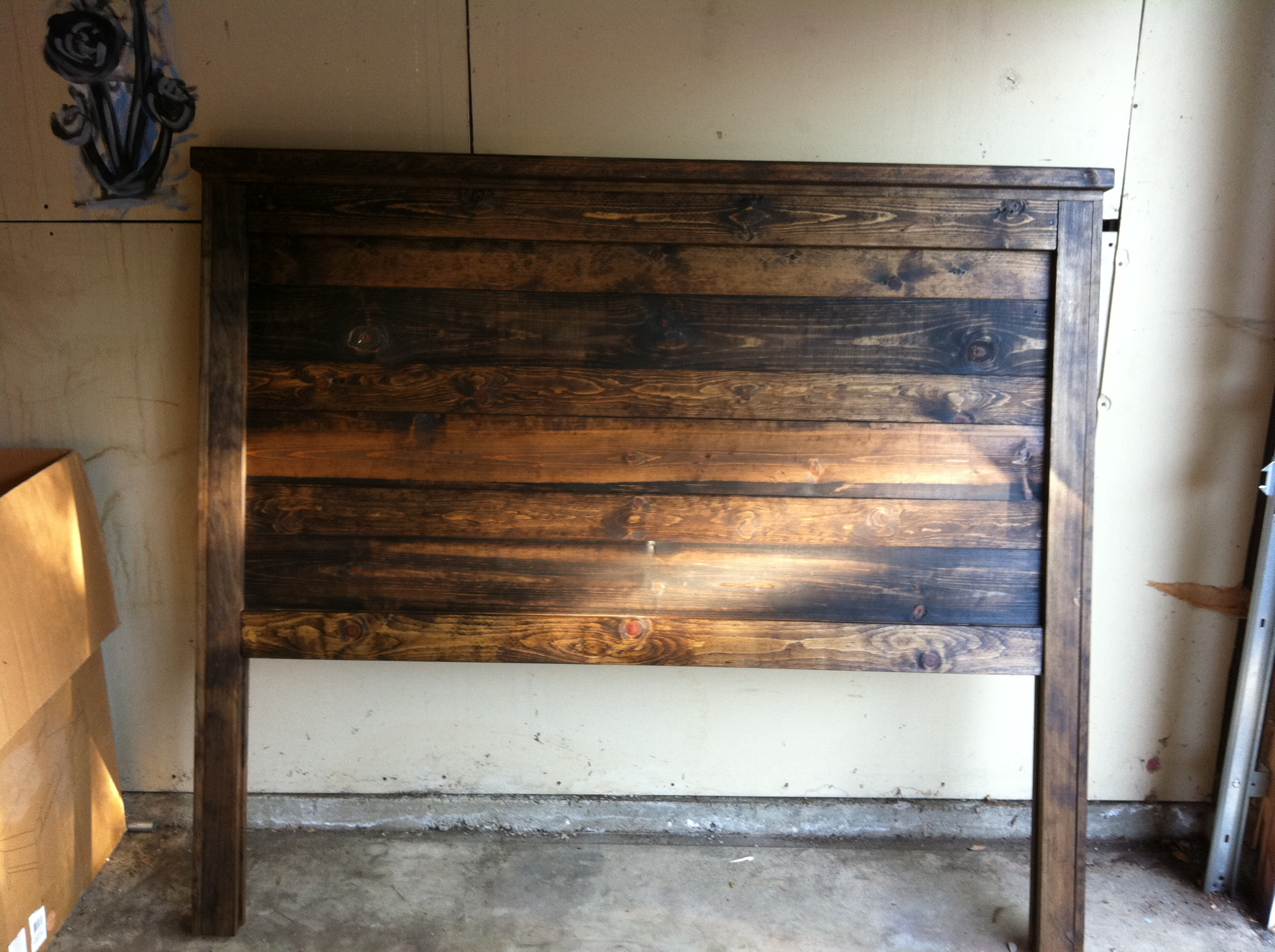 Ana white reclaimed queen wood bed diy projects for Diy queen wood headboard