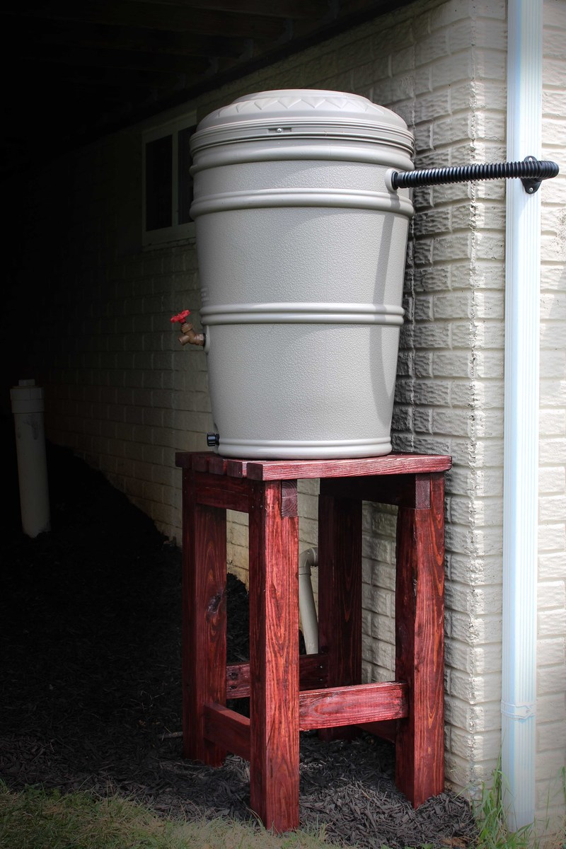 Ana White | Rain Barrel Stand and Installation - DIY Projects