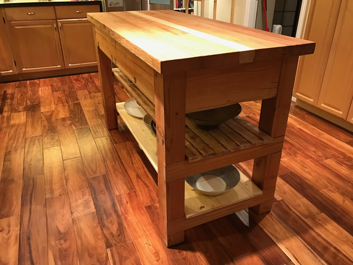 ana white reclaimed wood kitchen island diy projects