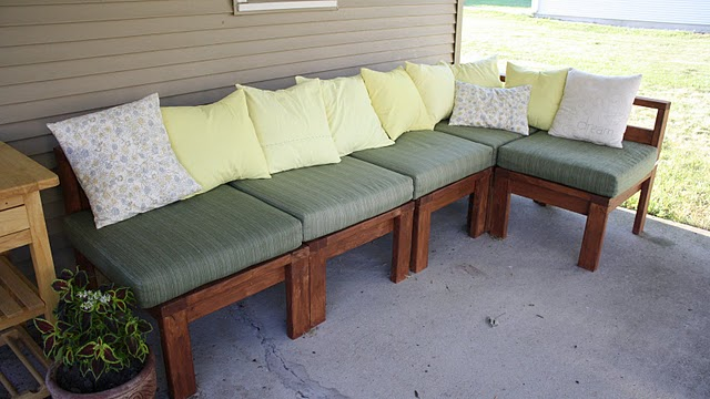 Ana White Outdoor Sectional With 2x4s Diy Projects